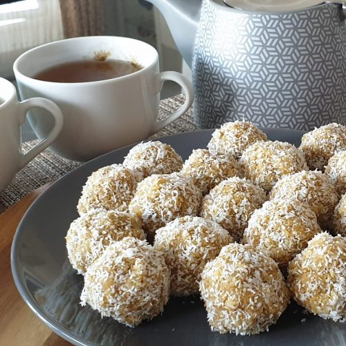 Coconut Balls/Ladoo with mixed seeds