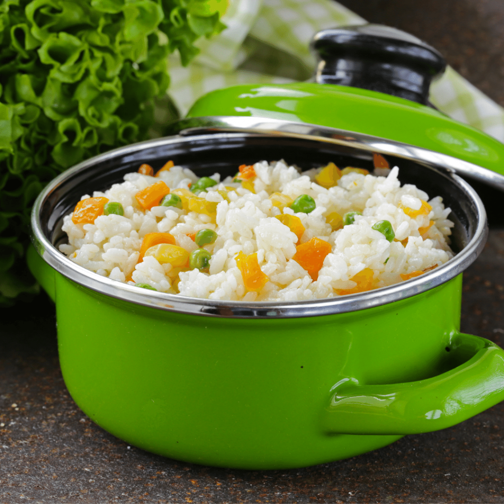 Rice pulao stock photo, vegetable riceRice in diabetic diet