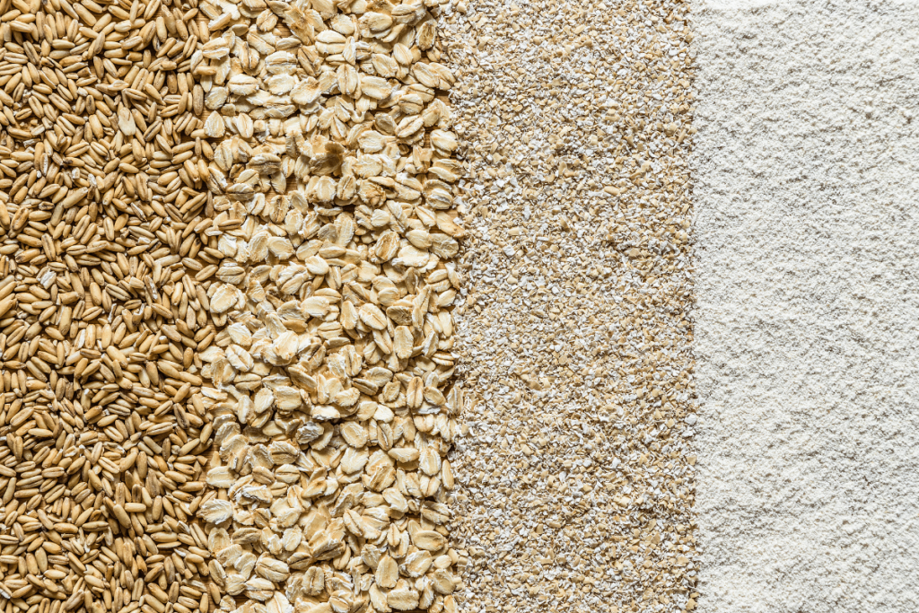 Types of oats,